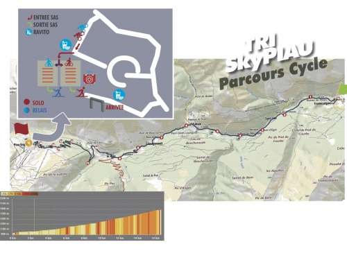 CYCLISME 17km, 900D+